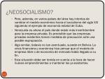 neosocialismo