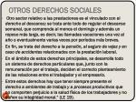 otros derechos sociales