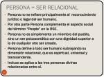 persona ser relacional