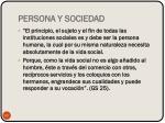 persona y sociedad