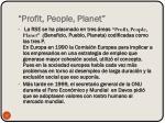 profit people planet