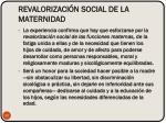 revalorizaci n social de la maternidad