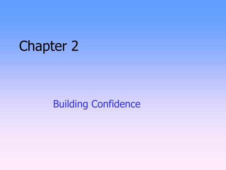 building confidence n.