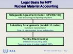 legal basis for npt nuclear material accounting