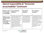 shared responsibility horizontal accountability continuum