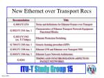 new ethernet over transport recs