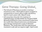 gene therapy going global 1