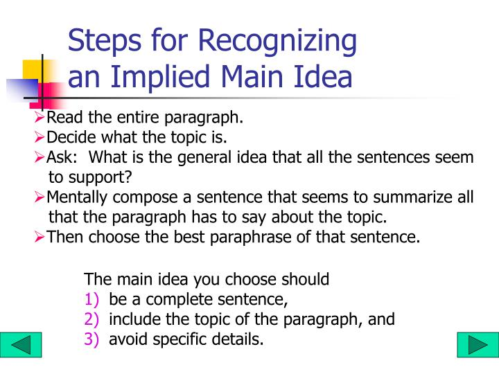 Steps for Recognizing