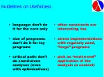 guidelines on usefulness