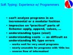 soft typing experience w programmers