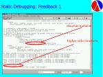 static debugging feedback 1