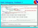 static debugging feedback 4