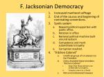 f jacksonian democracy