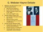 g webster hayne debate