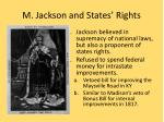 m jackson and states rights