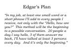 edgar s plan