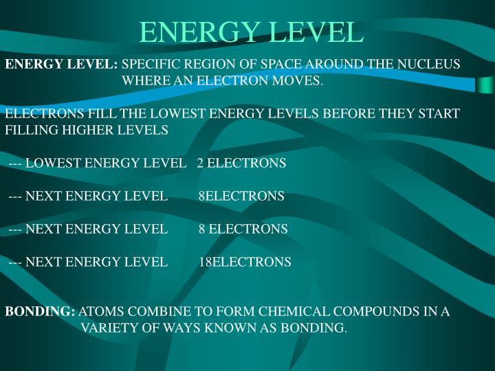 ENERGY LEVEL