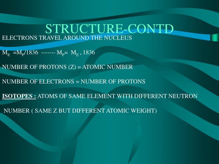 Structure contd
