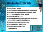 who are we the city