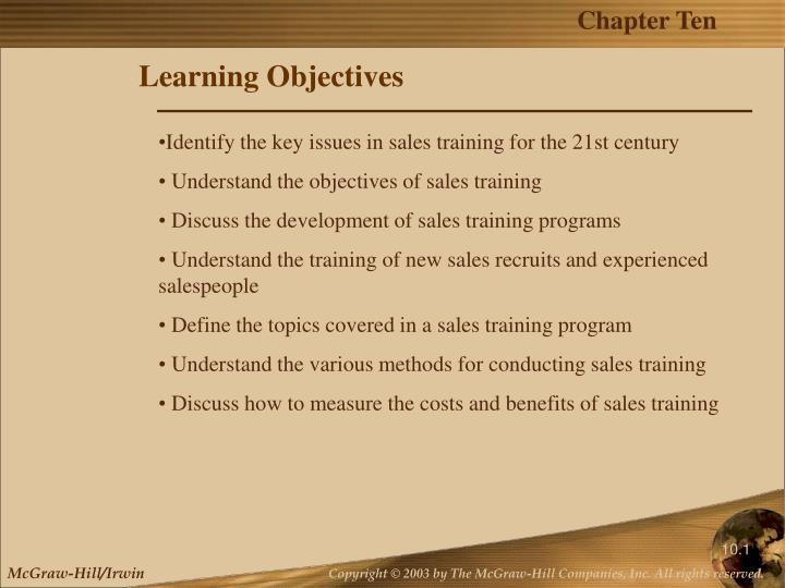 learning objectives n.