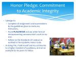 honor pledge commitment to academic integrity