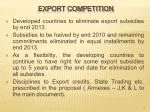 export competition
