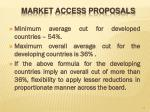 market access proposals1