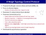 k neigh topology control protocol