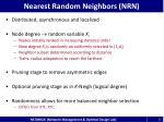 nearest random neighbors nrn