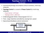 topology control tc i introduction