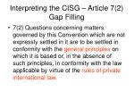 interpreting the cisg article 7 2 gap filling