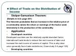 effect of trade on the distribution of income1