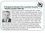empirical results the leontief paradox