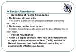 factor abundance