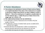 factor abundance1