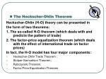 the heckscher ohlin theorem