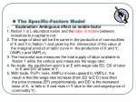 the specific factors model1