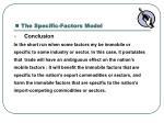 the specific factors model3