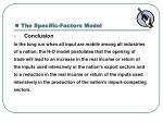 the specific factors model4