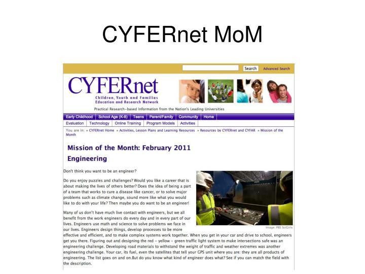CYFERnet MoM