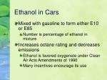 ethanol in cars