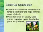 solid fuel combustion