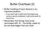 buffer overflows 2