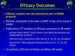 efficacy outcomes