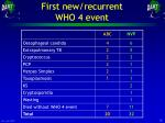 first new recurrent who 4 event
