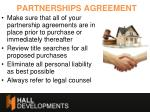 partnerships agreement
