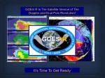 goes r is the satellite version of the doppler and dual pole revolution