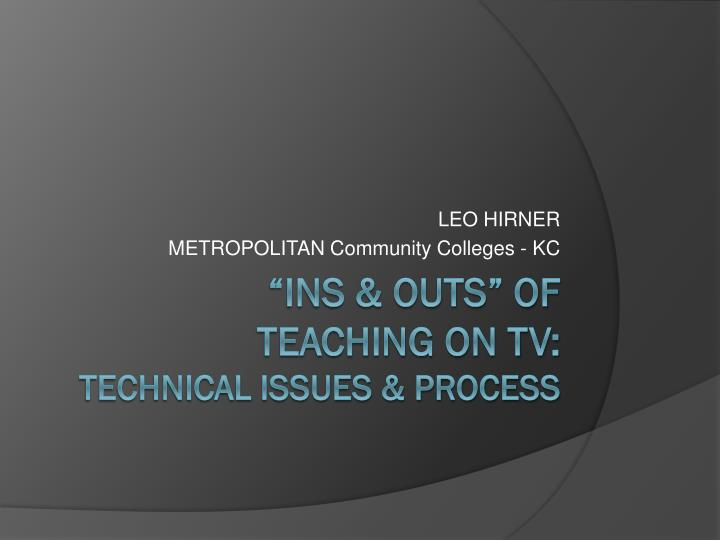 leo hirner metropolitan community colleges kc n.
