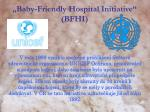 baby friendly hospital initiative bfhi