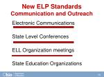 new elp standards communication and outreach